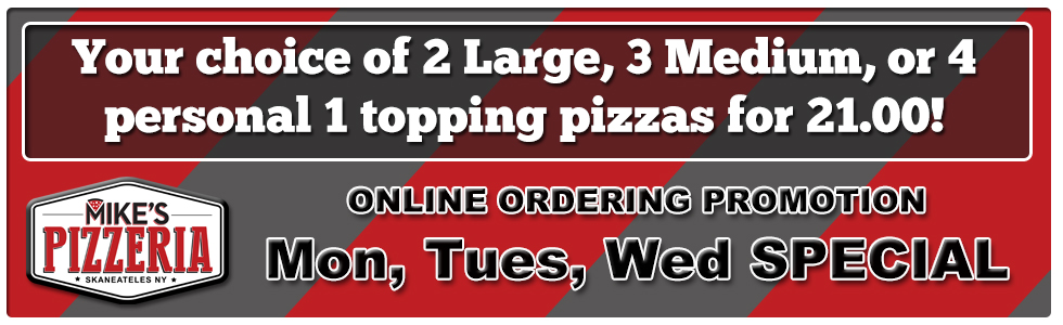 Mike's Pizzeria Skaneateles Pizza delivery